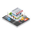 supermarket shopping 3d commercial center vector image