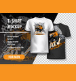 t-shirt template fully editable with orange atv vector image vector image