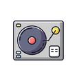 turntablism rgb color icon vector image