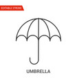 umbrella icon thin line vector image vector image