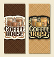 vertical banners for coffee house vector image vector image