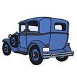 Vintage blue car vector image vector image
