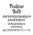 vintage gothic bold font vector image