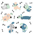 weirdo dogs set vector image vector image