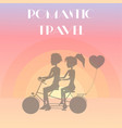 romantic travel couple poster vector image