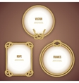 Round And Square Rope Frames vector image