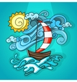 Vacation cartoon style vector image