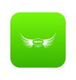 aquila wing icon green vector image vector image