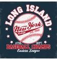 Baseball t-shirt print vector image vector image