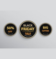black friday tags vector image vector image