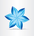 blue flower abstract design vector image
