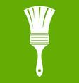 Brush icon green vector image