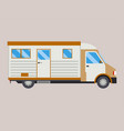 campers vacation travel car summer nature holiday vector image