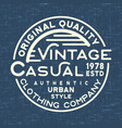 casual vintage stamp for denim t shirt vector image vector image