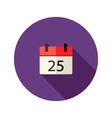 christmas calendar flat icon vector image