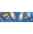 Clairvoyance Tell Fortunes Hand Banner vector image vector image