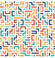color seamless geometric pattern vector image vector image