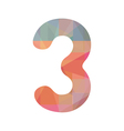 Colorful number three vector image