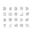 copywriting line icons signs set outline vector image vector image
