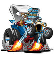 custom t-bucket roadster hotrod cartoon vector image