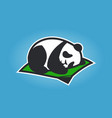 cute panda cartoon character sleeping on a mat vector image vector image
