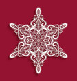 cutout paper snowflake vector image vector image
