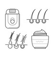electric shaver and aftershave cream vector image vector image