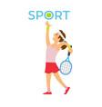 english sport tennis player hitting ball racket vector image