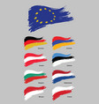 european flags vector image vector image