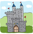 Fairytale castle kingdom cartoon style vector image vector image