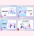flat style business scene with tiny people set vector image vector image