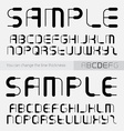 font made lines you can change line vector image