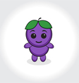 Grapes character plum character Grapes or plums ma vector image