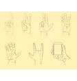 Hands sketch vector image vector image