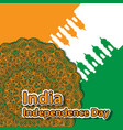 happy independence day india mandala flag the vector image vector image