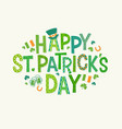 happy st patricks day doodle lettering vector image vector image