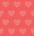 heart patterno1 vector image vector image