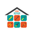 home repair concept with tools vector image vector image