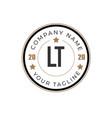 initial letter lt elegance logo design template vector image vector image
