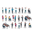 isometric people men and women in business and vector image vector image