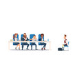 job interview and recruiting vector image vector image