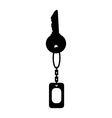 keychain key vector image