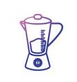 line blender technology kitchen utensil object vector image