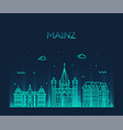 mainz skyline city germany linear style vector image vector image