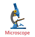 microscope isolated on the white background vector image