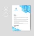 modern blue letterhead background vector image vector image