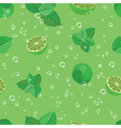 Mojito seamless pattern Mojito green mint and lime vector image vector image