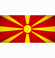 National flag of Macedonia vector image vector image