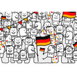 national german day vector image