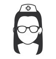 Nurse with glasses avatar character